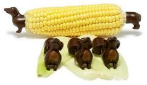 Sausage Dog corn holders