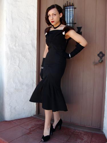 Forties Flared Dress