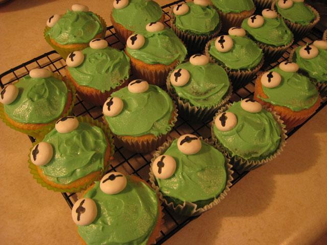 Green Kermit Poms
