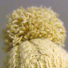 Finished Cream Cabled Hat