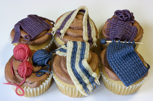Knitting Bee Cupcakes