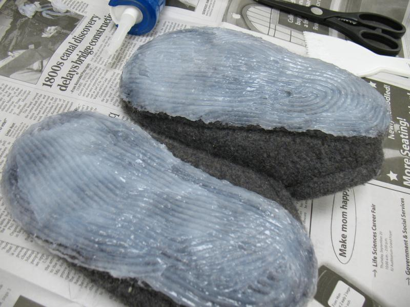 Making Slippers Non-Slip
