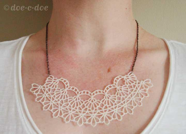 Plastic Doilie Necklace
