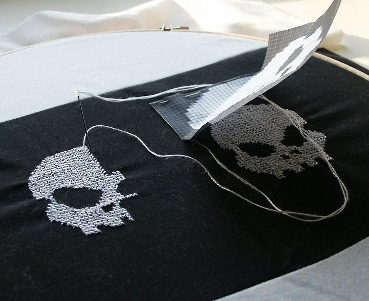 Skull and Cross-Stitches